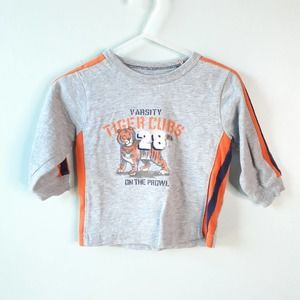 Carter's Long Sleeve Top Stripe Tigers 9 months